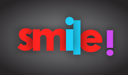 smile Letters vector word banner sign