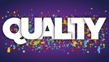 Quality letters vector word banner sign