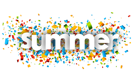 Summer letters vector word banner sign Иллюстрация