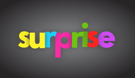 Surprise letters vector word banner sign