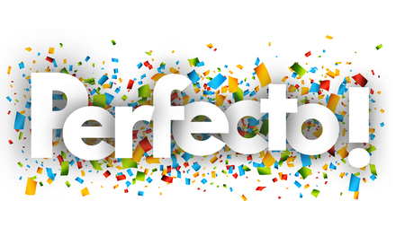 Perfect letters vector word banner sign Иллюстрация