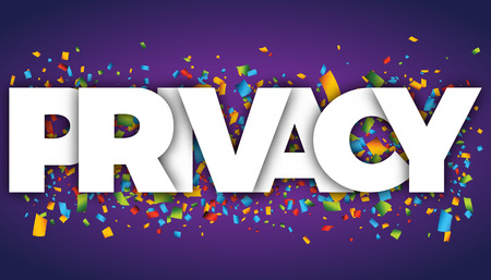 Privacy letters vector word banner sign