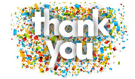 Dziękuję listy wektor słowo transparent znak Ilustracje wektorowe
