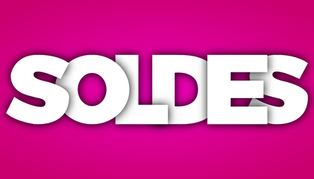 soldes letters vector word banner sign