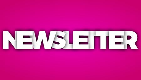 newsletter letters vector word banner sign