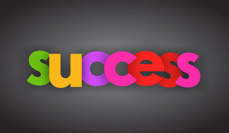 Success letters vector word banner sign