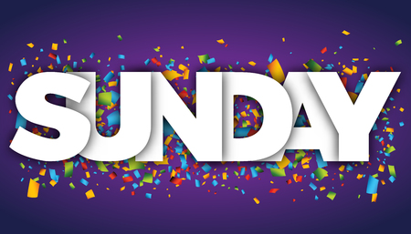Sunday letters vector word banner sign