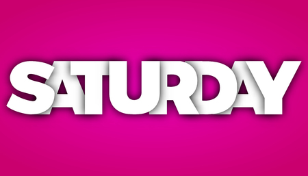 saturday letters vector word banner sign