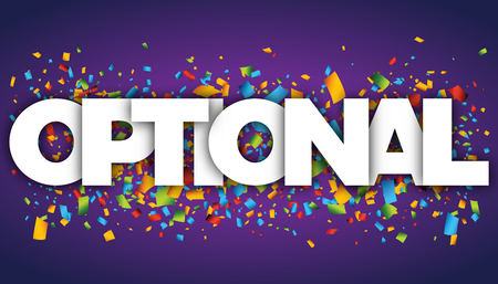 optional letters vector word banner sign