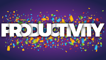 productivity letters vector word banner sign