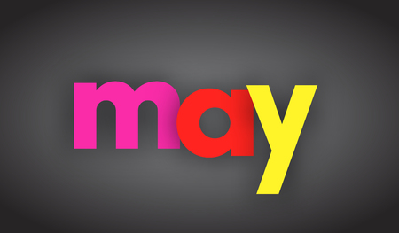 may letters vector word banner sign