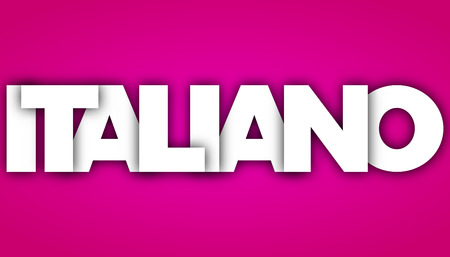 italian letters vector word banner sign