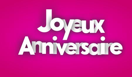 joyeux: happy birthday letters vector word banner sign Illustration