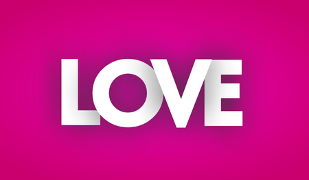 love letters vector word banner sign