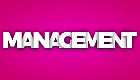 management letters vector word banner sign