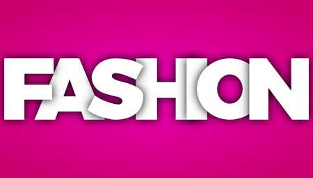 fashion letters vector word banner sign