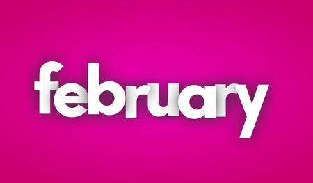 february letters vector word banner sign Illustration