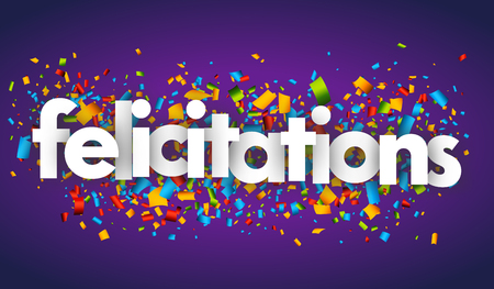 congratulations letters vector banner sign