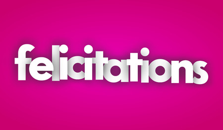 Congratulations letters vector banner sign 向量圖像