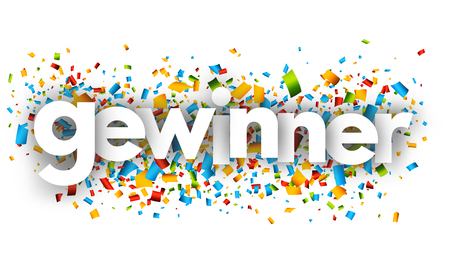 winner letters vector word banner sign Ilustrace
