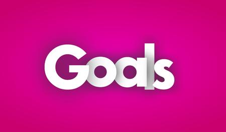 goals letters vector word banner sign