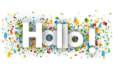 hello letters vector word banner sign