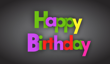 happy birthday letters vector word banner sign 向量圖像