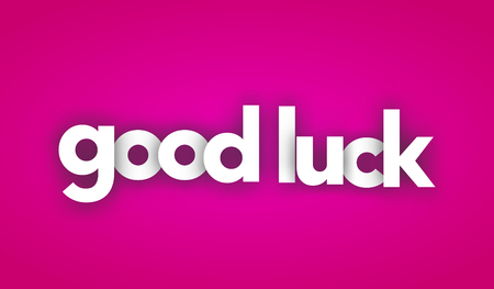 good luck letters vector word banner sign
