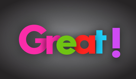 great letters vector word banner sign