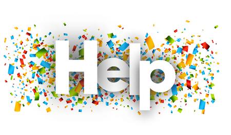 voluntary: Help vector word banner sign