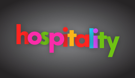 hospitality letters vector word banner sign  イラスト・ベクター素材