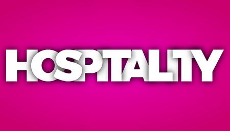 hospitality letters vector word banner sign Illustration