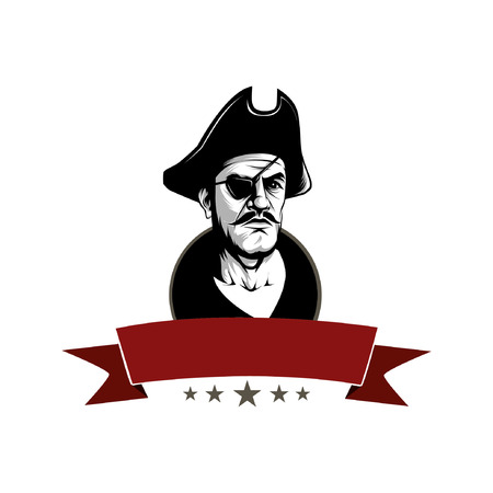 ico: pirates for ico,badge or logo with editable color layers Illustration
