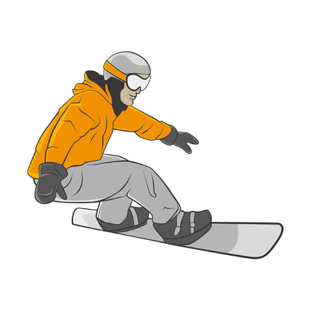 vector snowboarder in action 向量圖像