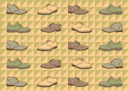 patern: vintage soes patern with polygonal retro ornament
