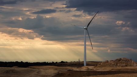 xinjiang: windmill in Buerjin, Xinjiang �ditoriale