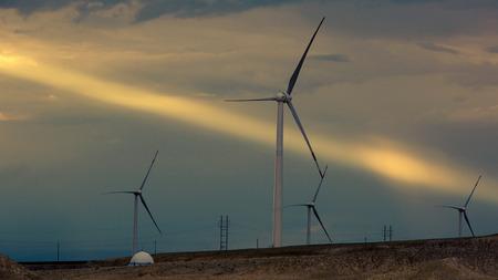 xinjiang: windmill in Xinjiang