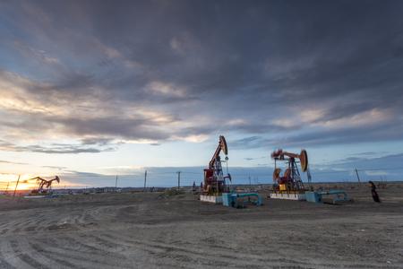 fullframes: Oil pumping machine Editorial