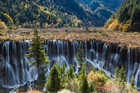 Jiuzhaigou nature landscape scenery Stock Photo