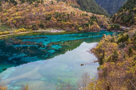 jiuzhaigou scenery Stock Photo