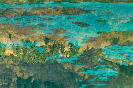 jiuzhaigou reflection scenery