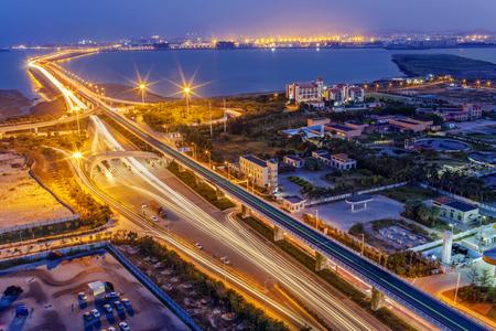 Jimei Bridge in  Xiamen Stock Photo