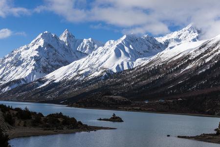 steep: Tibet namjagbrawa landscape scenery view