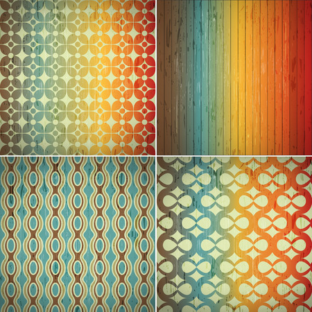 symetry: Retro abstract seamless pattern