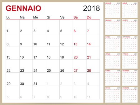 Polish Calendar Template For Year  Set Of  Months Week