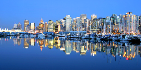 vancouver: Vancouver Skyline Stock Photo