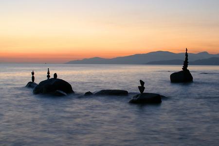 balanced rocks: Balanced Stones English Bay