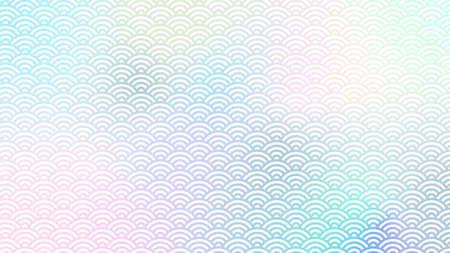 holographic Japanese traditional pattern backgrounds