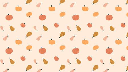 pattern background illustration of  pumpkins