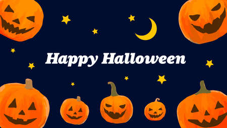 Set of halloween pumpkins, background